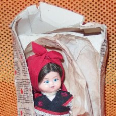 Muñeca española clasica: MUÑECA REGIONAL DE CELULOIDE,CAJA ORIGINAL,FINALES AÑOS 50. Lote 52473296