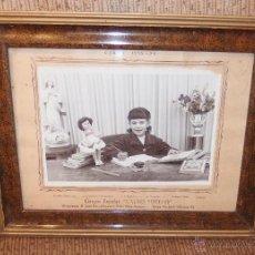 Muñeca española clasica: MUÑECA CON NIÑA EN LA ESCUELA,AÑO CURSO DEL AÑO 1955-56,ALBALAT(VALENCIA). Lote 52474033