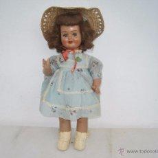 Muñeca española clasica: PRECIOSA MUÑECA ESPAÑOLA AUTÓMATA, 45 CM. AÑOS 40.. Lote 150032112