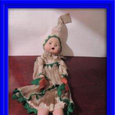 Muñeca española clasica: MUÑECA GUARDA PIJAMA DE PAPIER MACHE. Lote 52757416