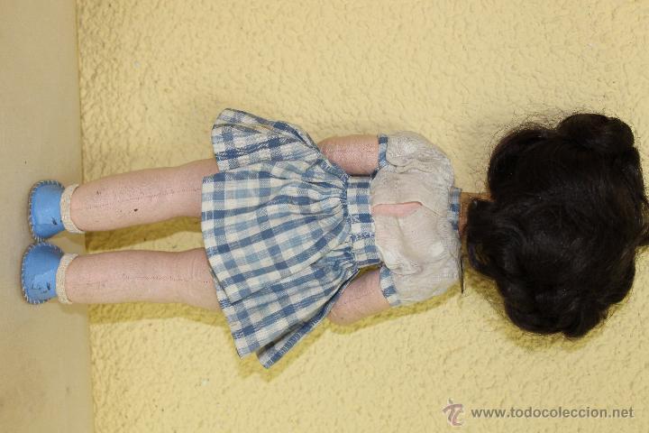 Muñeca española clasica: MUÑECA CUERPO DE TRAPO Y CABEZA DE CARTON-PIEDRA - Foto 2 - 52769367