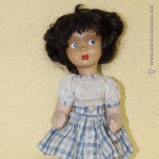 Muñeca española clasica: MUÑECA CUERPO DE TRAPO Y CABEZA DE CARTON-PIEDRA. Lote 52769367