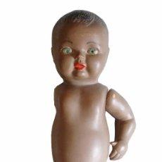 Muñeca española clasica: ANTIGUO MUÑECO NEGRO OJOS AZULES DE CELULOIDE. PRINCIPIOS DE SIGLO.. Lote 52846825