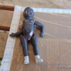 Muñeca española clasica: PEQUEÑA MUÑECA MUÑECO EN CELULOIDE NEGRO. Lote 52950706