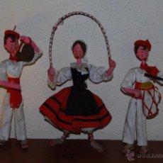 Muñeca española clasica: MUÑECOS ROLDÁN O KUMPLE - BAILE POPULAR - TRAJE POPULAR - FIESTA - ROMERÍA - FIELTRO TRAPO - AÑOS 50. Lote 52970247