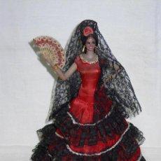 Muñeca española clasica: MUÑECA LUISA CAMPANA DE MARIN CHICLANA. PEINETA MANTILLA ABANICO. AÑOS 30-40. CON ETIQUETA. FLAMENCA. Lote 107807442