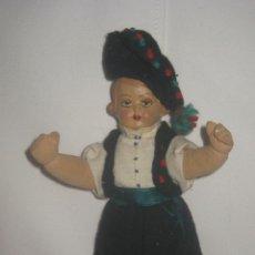Muñeca española clasica: ANTIGUO MUÑECO AÑOS 20- REALIZADA LA CABEZA EN COMPOSICIÓN CON OJO DECORADO Y EL CUERPO EN LIENZO. Lote 53544307