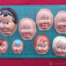 Muñeca española clasica: LOTE DE 8 CARAS DE MUÑECA. LOTE B. Lote 53704019