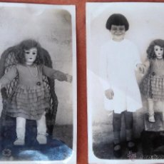 Muñeca española clasica: 2 FOTOGRAFIAS,ANTIGUA MUÑECA ESPAÑOLA AÑO 1920-1930 MUY RARA. Lote 54007993