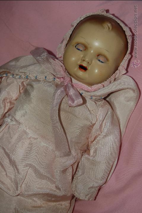 Muñeca española clasica: bebé de composición antiguo - Foto 2 - 54222545