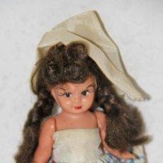 Muñeca española clasica: MU035 MUÑECA EN MINIATURA. PLÁSTICO Y MOHAIR. 10 CM. ESPAÑA. AÑOS 30. Lote 51976878