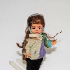 Muñeca española clasica: MU036 MUÑECA EN MINIATURA. OJOS DURMIENTES. PLÁSTICO Y MOHAIR. 10 CM. ESPAÑA. AÑOS 30. Lote 51977034