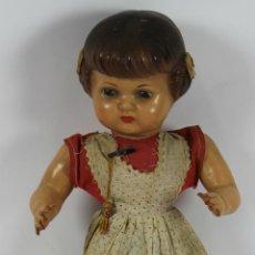 Muñeca española clasica: MUÑECA DE COMPOSICIÓN Y CUERPO DE CARTÓN PIEDRA. OJOS DE CRISTAL. POLICROMADA. AÑOS 30.. Lote 49338399