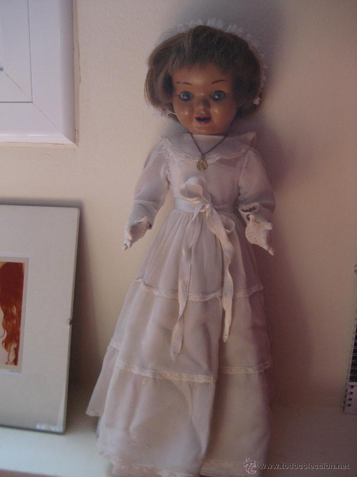 Muñeca española clasica: MUÑECA ESPAÑOLA ANTIGUA, TERESÍN, DE COMUNIÓN, AÑOS 50 - Foto 3 - 54850104