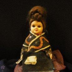 Muñeca española clasica: MUÑECA CELULOIDE O PLÁSTICO FINO VESTIDA CON TRAJE REGIONAL DE EXTREMADURA. OJO DURMIENTE. . Lote 54909622