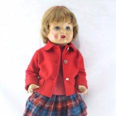 Muñeca española clasica: ANTIGUA MUÑECA PURITA, DE FLORIDO - CARTÓN PIEDRA. OJOS AZULES DURMIENTES - AÑOS 50 - ALTURA 62 CM. Lote 54962627