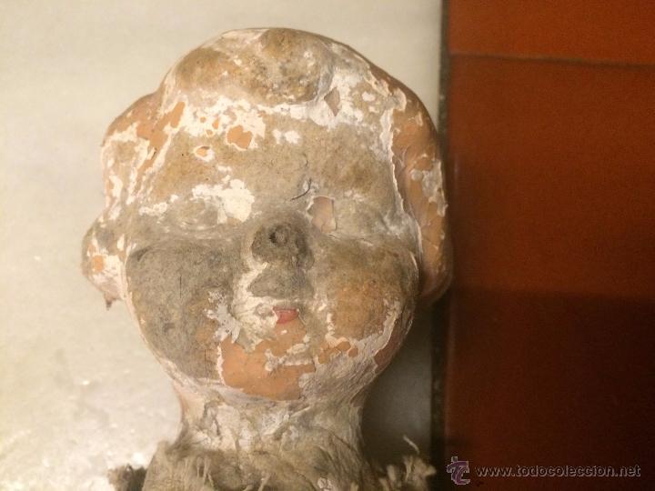 Muñeca española clasica: Antigua muñeca pepona de cartón de los años 20-30 deteriorada - Foto 2 - 54995025
