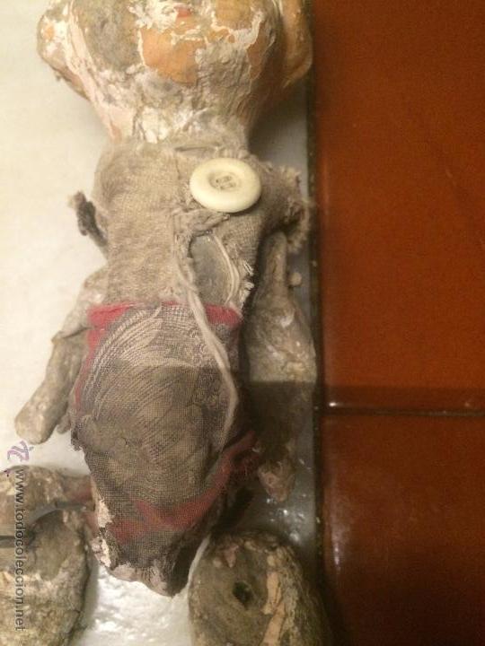 Muñeca española clasica: Antigua muñeca pepona de cartón de los años 20-30 deteriorada - Foto 3 - 54995025