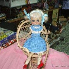 Muñeca española clasica: MUÑECA AÑOS 50 CARA DECORADA PELUCA DE MOHER,MIDE 32 CENT. Lote 54997238