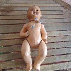 Muñeca española clasica: ANTIGUO MUÑECO BEBOTE EN CARTON PIEDRA PARA RETAURAR. Lote 55227183