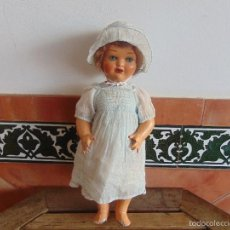 Muñeca española clasica: ANTIGUA MUÑECA EN CARTON PIEDRA PARA RETAURAR ANDADORA CREO QUE CAYETANA. Lote 55227427