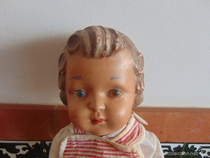 Muñeca española clasica: ANTIGUO MUÑECO EN CARTON PIEDRA PARA RETAURAR PARECE ARTURITO - Foto 2 - 55227644