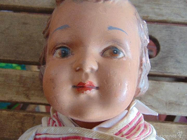 Muñeca española clasica: ANTIGUO MUÑECO EN CARTON PIEDRA PARA RETAURAR PARECE ARTURITO - Foto 5 - 55227644