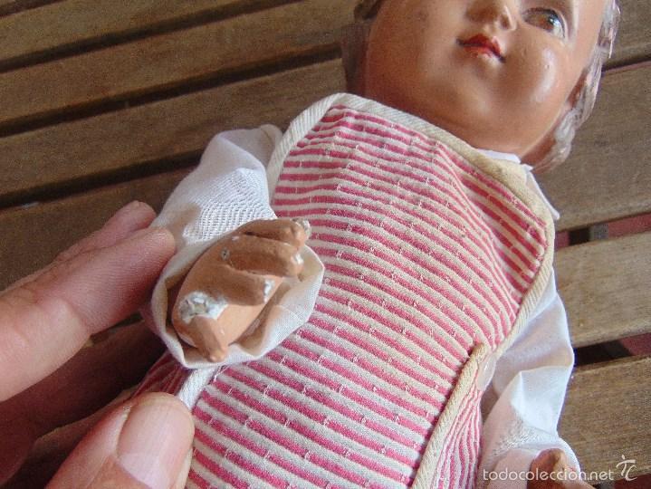 Muñeca española clasica: ANTIGUO MUÑECO EN CARTON PIEDRA PARA RETAURAR PARECE ARTURITO - Foto 18 - 55227644