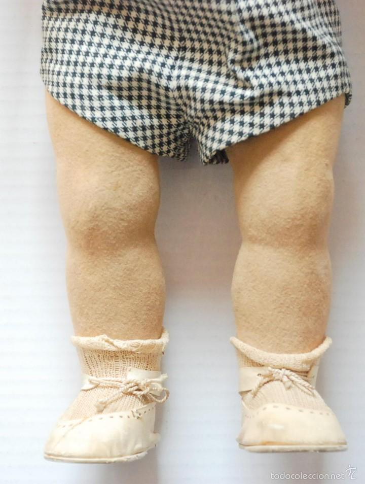 Muñeca española clasica: ANTIGUO MUÑECO BEBE PIEL DE MELOCOTON CON LLORON 53CM FLORIDO .AÑOS 40. - Foto 4 - 55365083