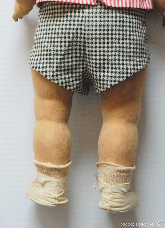 Muñeca española clasica: ANTIGUO MUÑECO BEBE PIEL DE MELOCOTON CON LLORON 53CM FLORIDO .AÑOS 40. - Foto 7 - 55365083