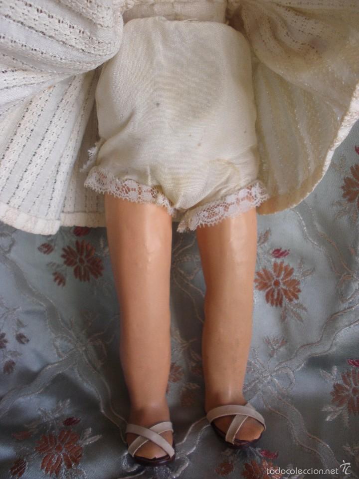 Muñeca española clasica: ANTIGUA MUÑECA CARTÓN PIEDRA AÑOS 50 MARCA LL M ESTILIZADA ESTILO PALOMITA MADRID - Foto 7 - 55701266