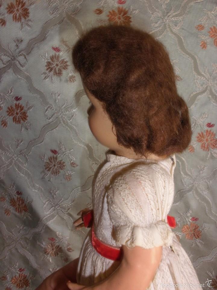 Muñeca española clasica: ANTIGUA MUÑECA CARTÓN PIEDRA AÑOS 50 MARCA LL M ESTILIZADA ESTILO PALOMITA MADRID - Foto 8 - 55701266