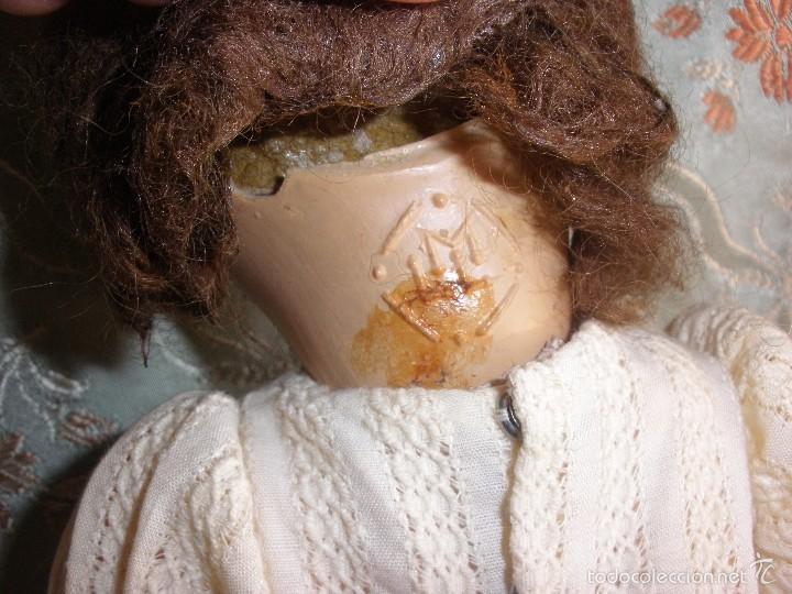 Muñeca española clasica: ANTIGUA MUÑECA CARTÓN PIEDRA AÑOS 50 MARCA LL M ESTILIZADA ESTILO PALOMITA MADRID - Foto 10 - 55701266