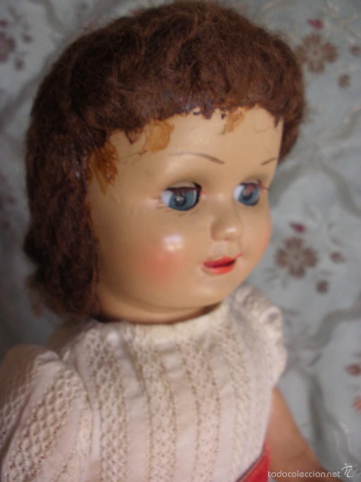 Muñeca española clasica: ANTIGUA MUÑECA CARTÓN PIEDRA AÑOS 50 MARCA LL M ESTILIZADA ESTILO PALOMITA MADRID - Foto 15 - 55701266