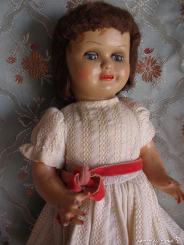 Muñeca española clasica: ANTIGUA MUÑECA CARTÓN PIEDRA AÑOS 50 MARCA LL M ESTILIZADA ESTILO PALOMITA MADRID - Foto 16 - 55701266