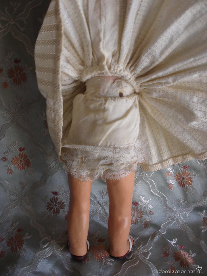 Muñeca española clasica: ANTIGUA MUÑECA CARTÓN PIEDRA AÑOS 50 MARCA LL M ESTILIZADA ESTILO PALOMITA MADRID - Foto 19 - 55701266
