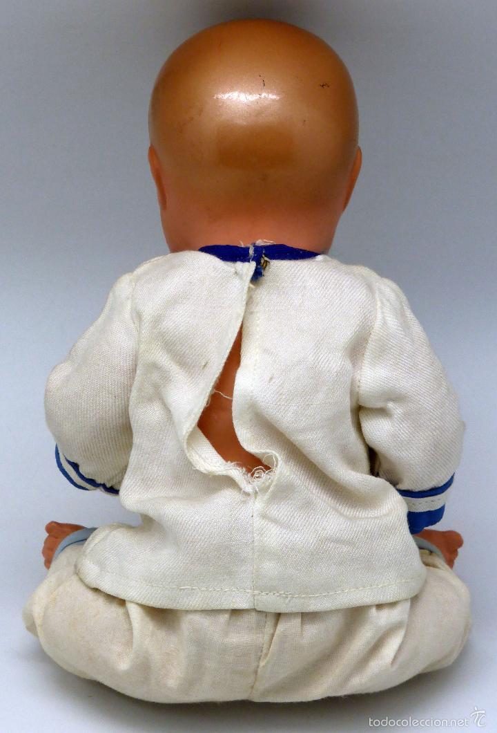 Muñeca española clasica: Bebé marinero celuloide ojo pintado JC SA ICSA marca espalda años 30 28 cm alto - Foto 3 - 55705691