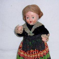 Muñeca española clasica: MUÑECA DE CELULOIDE TRAJE REGIONAL MANCHEGA. LA MANCHA. PELO MOHAIR. TODO ORIGINAL. CIRCA 1930-1940. Lote 55791932