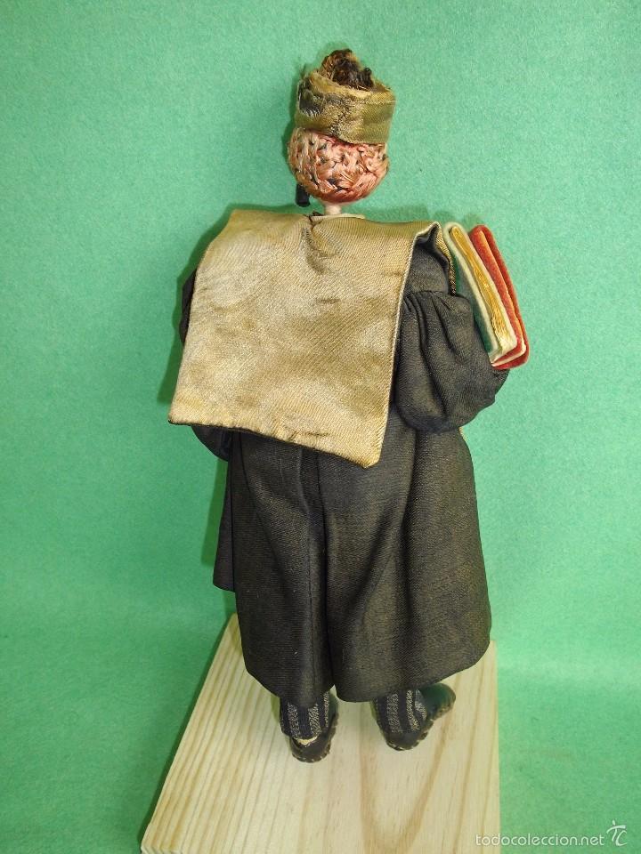 Muñeca española clasica: GENIAL MUÑECO ROLDAN KLUMPE ABOGADO JUEZ MAGISTRADO FIELTRO Y ALAMBRE AÑOS 50 FUMANDO PIPA - Foto 5 - 55951935