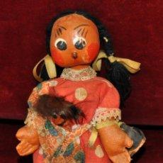 Muñeca española clasica: ANTIGUA MUÑECA DE FIELTRO DE LOS AÑOS 50-60. Lote 56118206