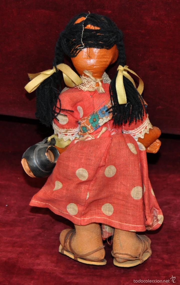 Muñeca española clasica: ANTIGUA MUÑECA DE FIELTRO DE LOS AÑOS 50-60 - Foto 4 - 56118206