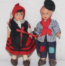Muñeca española clasica: MU100 PAREJA DE MUÑECOS REGIONALES. CELULOIDE. ESPAÑA. AÑOS 60. Lote 56119050