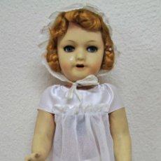 Muñeca española clasica: MU101 MUÑECA ANDADORA. CARTÓN PIEDRA Y PAPIER MACHÉ. FUNCIONA. ESPAÑA. PRINC. S. XX. Lote 56119698