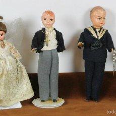 Muñeca española clasica: COLECCION DE 4 MUÑECOS DE PRIMERA COMUNION. CELULOIDE. CIRCA 1940.. Lote 56295751