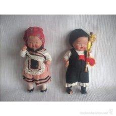 Muñeca española clasica: PAREJA DE MUÑECOS GALLEGOS, DE TERRACOTA. Lote 56402542