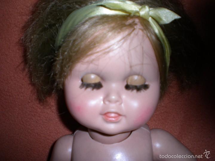 Muñeca española clasica: preciosa muñeca + 2 trajes posiblemente florido o icsa entre los años 50/60 mide 48 cm buen estado - Foto 5 - 56531921