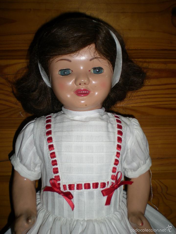 Muñeca española clasica: muñeca carton piedra de origen en pelo natural goyita marca las meninas onil años 50 - Foto 9 - 40878003