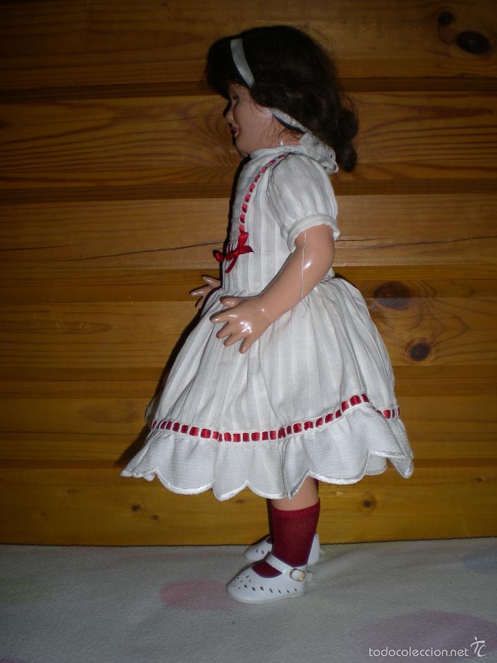 Muñeca española clasica: muñeca carton piedra de origen en pelo natural goyita marca las meninas onil años 50 - Foto 11 - 40878003