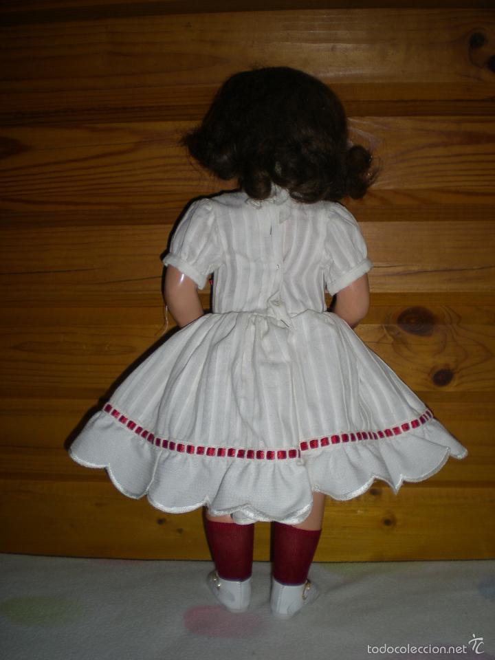 Muñeca española clasica: muñeca carton piedra de origen en pelo natural goyita marca las meninas onil años 50 - Foto 12 - 40878003
