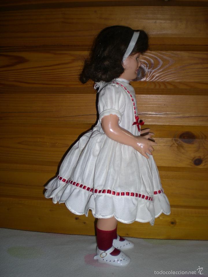 Muñeca española clasica: muñeca carton piedra de origen en pelo natural goyita marca las meninas onil años 50 - Foto 13 - 40878003